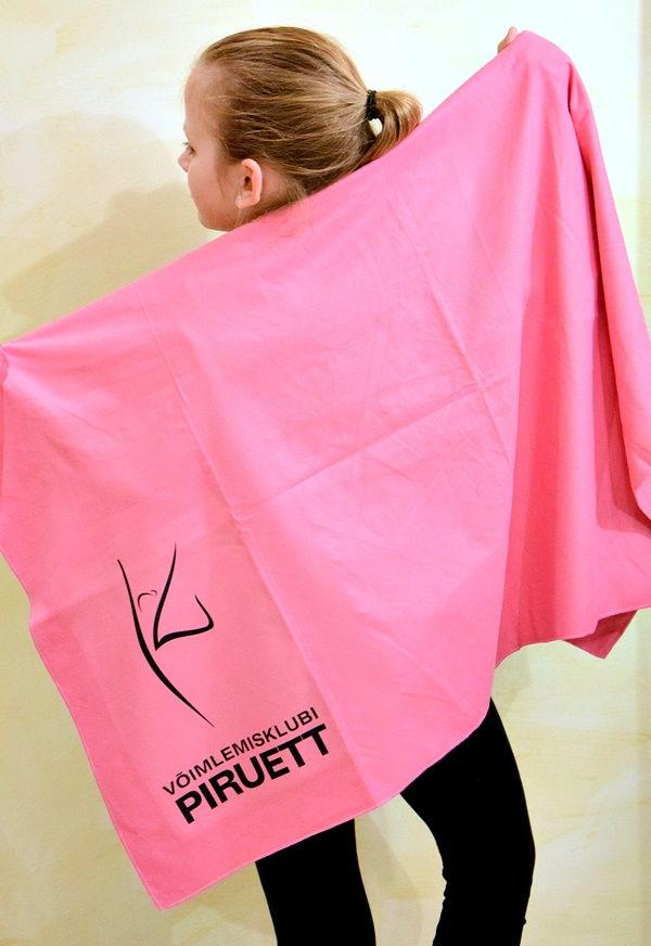 Võimlemisklubi Piruett logoga microfiber rätik