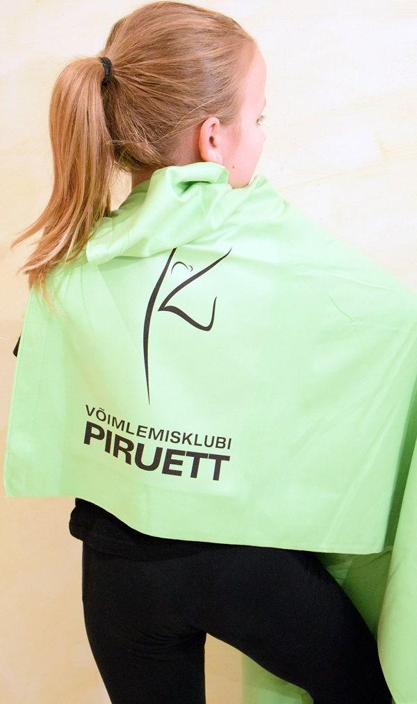 Võimlemisklubi Piruett microfiber rätik logoga