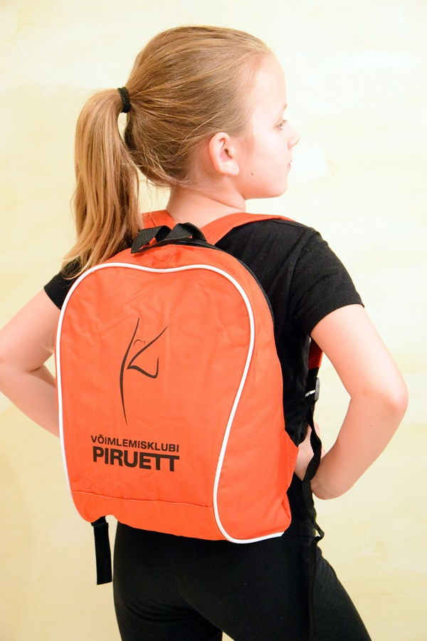 Võimlemisklubi Piruett seljakott logoga