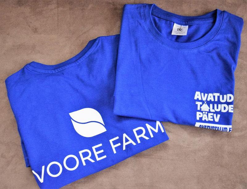 Voore farm t-särk, logo siiditrükk